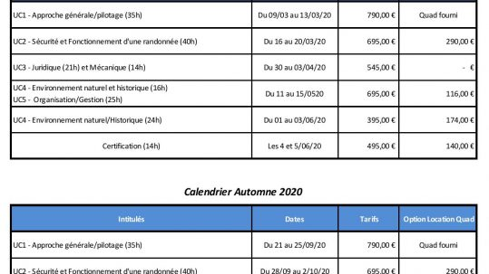 Calendrier CQP Guide VTM Option Quad 2020-page-001